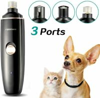 Dog Cat Pet Nail Trimmer Grooming Tool Paws Care Grinder Electric Clipper Bundle