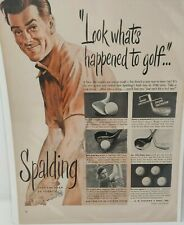 Vintage 1948 Spalding Golf Advertisement