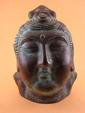 Tête Homme Chinois céramique patine bronze Souvenirs Province Shenzhen Chine XX