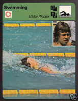 ULRIKE RICHTER Swimming East Germany Olympics Gold 1979 SPORTSCASTER CARD 88-04