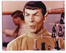 1966 STAR TREK LEONARD NIMOY SPOCK 8x10 color photo