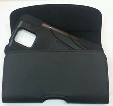 FOR HTC Desire 601 XL BELT CLIP LEATHER HOLSTER FITS A HYBRID CASE ON PHONE