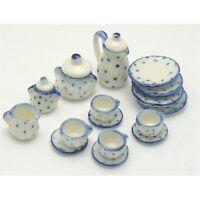 12th Scale Ceramic Tea Set for Dolls House   D9304