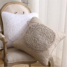 "18"" Square Vintage Flower Shape Cushion Cover  Sofa Waist Pillowcase Home Decor"