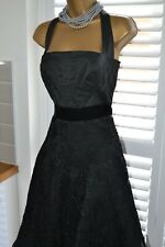 ~ KAREN MILLEN ~ Gorgeous Black Lace Boned Corset Dress Size 10 12