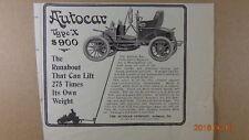 1905 Autocar Automobile PRINT AD  Ardmore, PA