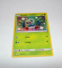 NM Pokemon Brillant Rowlet Carte Caché Fates Set SV2//SV94 Sun et Lune Holo Rare