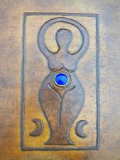 Mother Goddess LAPISLAZU Journal Pagan Wicca A5 Handmade Leather Book-of-Shadows