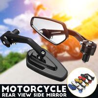 7/8'' 22mm Moto Specchietti Retrovisori Manubrio Alluminio Universali Ovali  /