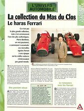 Collection Ferrari GTO Circuit Mas du Clos Pierre Bardinon Car Auto FICHE FRANCE