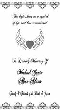 Personalized Memorial In Loving Memory Of Luminaries Wedding Table Decorations