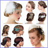 Crystal Wedding Hair Clip Flower Headpieces Rhinestone Bridal Hair Accessories