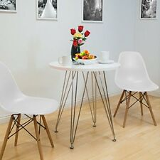 Set Of 4 Chaises  Style Scandinaves Nordique Chaise en ABS Plastique Blanc