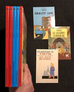 Lot of 5 Hergé Les Aventures de TinTin Casterman 2006 Hardcovers In French