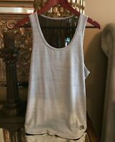 THE NORTHFACE FLASHDRY GRAY, WHITE & BLACK WORKOUT/YOGA TANK TOP - NEW W/OUT TAG