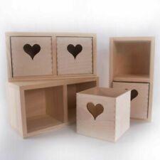Cajas, tarros y latas decorativos de madera para el hogar