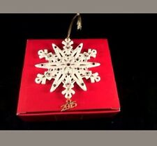 Lenox 2015 Gemmed Snowflake Ornament with Amethyst Crystals NEW IN BOX