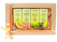 Citrus Essential Oil Gift Set - 4 Oils - 100% Pure, Therapeutic & Food Grade