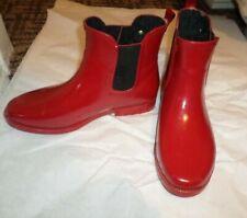 Michael Kors Charm Logo Red Rain Boots 8M