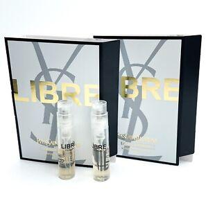 2x YSL Yves Saint Laurent Libre Eau de Parfum EDP .04oz, 1.2ml Each