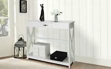 Wood Console Table Modern Accent Shelf Stand Sofa Entryway Hall Furniture Drawer