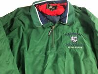 Harrison Football Jacket VTG Mens XL Silver Hoyas Windbreaker Lined Georgia 90s