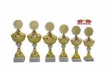 3x Pokale silber// goldfarben 36-34 32 cm mit Beschriftung