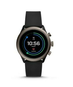 Fossil Sport Touchscreen Heart Rate Black Silicone SmartWatch 43mm FTW4019