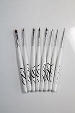 8er Set UV-Gel Pinsel Nailart Dotting Nagelstudio Nagelset uvgel Zebra BN1825