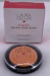 Laura Geller Baked Gelato Swirl Blush Cantaloupe Peach Full Size Italy