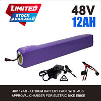 48V 12AH Lithium Battery for eBike Electric Scooter Mobility Bicycle DIY e-Bike