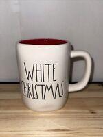 """New Rae Dunn Christmas Mug """"WHITE CHRISTMAS"""" Snowflake Double Sided"""