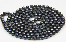 6-6.5mm Black Freshwater Cultured Pearl Necklace 54""