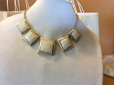 $49.99 Ann Taylor Gold Plated White Square Necklace 122 (1)