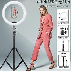 USB LED Ringlicht Ringleuchte Fotolicht Studiolicht Lampe Selfie Handy Stativ