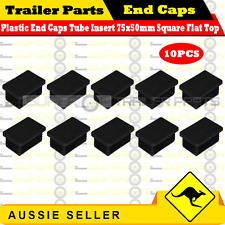 10 x Superior Plastic End Caps Tube Insert 75x50mm Square Flat Top