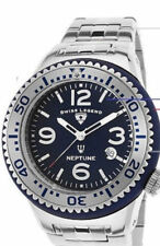 Swiss Legend Neptune Force NEW Blue Case Stainless Steel Mens Watch NWT/NIB $ALE