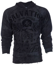 Archaic Affliction Mens Hoodie Sweat Shirt Jacket BLACK TIDE Biker S-3XL $78