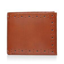 Fred Perry Perforados Brogue Billetera para hombre de cuero billetera -- L7328-448 -- tan