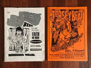 2 Jersey Beat Zine Fanzine Issues - 90s punk music Screeching Weasel Descendents
