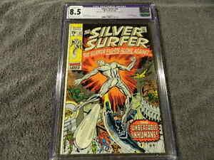 1970 MARVEL Comics SILVER SURFER #18 Scarce Final Issue - vs. INHUMANS - CGC 8.5