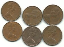 Very Nice Lot 6 New Zealand 2 Cents-1966,1967,1971,1973 ,1974,1981-Sep793