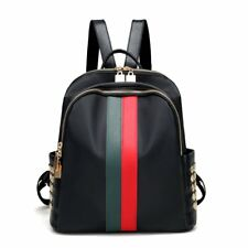 Women Leather Mini Backpack Bag Teenager School Tote Gucci Stripes Style Fashion