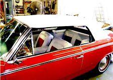 RAMBLER AMERICAN 440, ROGUE  1964-67 CONVERTIBLE TOP+WINDOW - WHITE HAARTZ VINYL