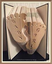 Baby Girl Feet Folded Book Art Folding PATTERN ONLY #3524