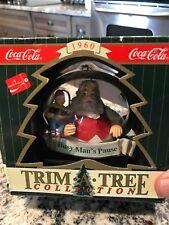 COCA COLA TRIM-A-TREE Vintage Xmas ORNAMENT 1996 BUSY MAN'S PAUSE Santa Elf 1960
