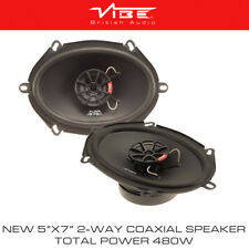 "VIBE Slick57 5""x7"" 5x7 Replacement Front Rear Door Car Coaxial Speakers 480W"