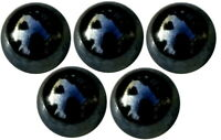 5 Billes Boulards Calots Ø 30 mm Couleur Type Pétrole Noir Reflets Brillant