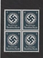 MNH Stamp Block / PF04 1934 Issue / Large WWII emblem / MNH Third Reich 1934