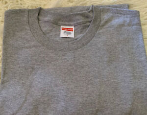 Supreme Blank Tee Gray Size Large Long Sleeve
